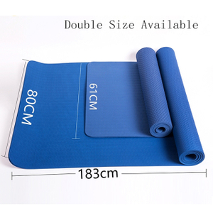 Blue 8mm Extra Wide Yoga Exercise Mat Online