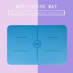 PU Rubber Meditation Mat, Custom Printing