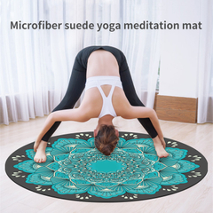 Suede Natural Rubber Meditation Mat--Hot Sales, Custom Printed Meditation Cushion