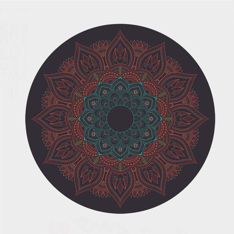 Custom Printed Round Meditation Yoga Mat -- Low Price