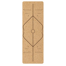 Custom Logo Non-Toxic Rubber Backing, Natural Sustainable Cork Resists Germs and Odor Pilates Eco-friendly Natural Rubber Cork Yoga Mat