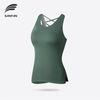 Women's Solid Color Relaxed Athletic Workout Crop Tank Tops High Quality Breathable Fitness Yoga Vest