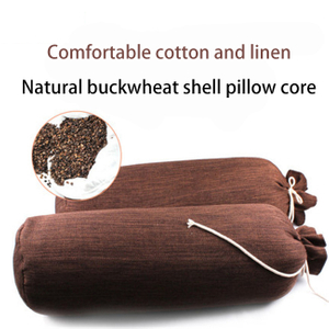 Factory Direct Sale Eco-friendly Round Buckwheat Yoga Bolster