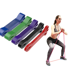 Natural Latex Yoga Elastic Stretching Belt Heavy Duty Exercise Band-for Power Training Pilates