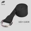 Sport Durable Stretch Strap D-Ring Belts Gym Waist Leg Fitness Training Adjustable Yoga Strap 100% Cotton