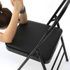 Yoga Backless Standard Prop Practice Asana Activity Yoga Chair Auxiliary Tool Steel Pipe Padded Foldable Yoga Chair