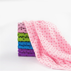 High quality microfiber anti slip hot yoga mat cover yoga towel