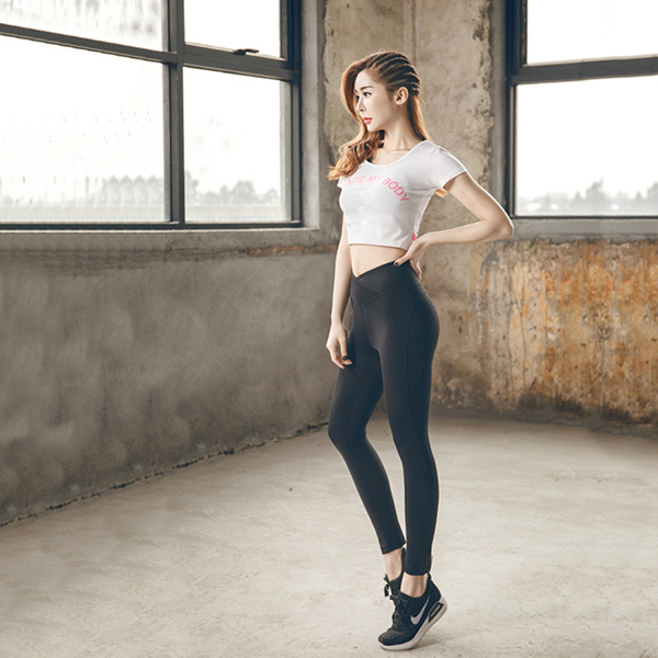High quality Yoga clothes show slim woman Shirts Fitness Quick Dry Pants
