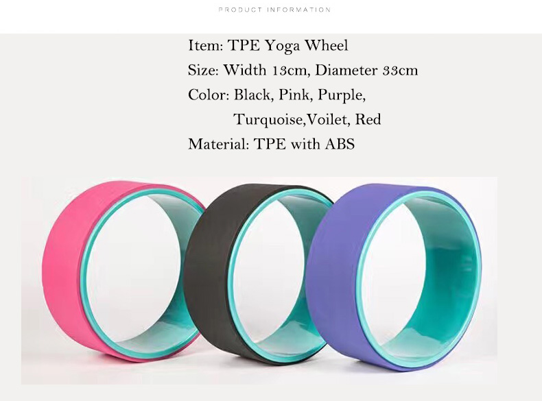 Wholesale Custom Printed New TPE Yoga Wheel ABS Eco-Friendly China Factory Streching Fitness Gym Wheel (2)