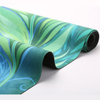 High Quality Luxurious micro-fiber suede yoga mats rubber mat pattern screen printing