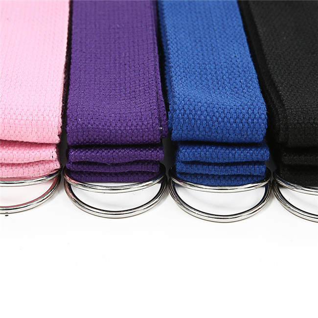 Adjustable Fitness Elastic Organic Cotton Pilates Stretch Band Yoga Strap