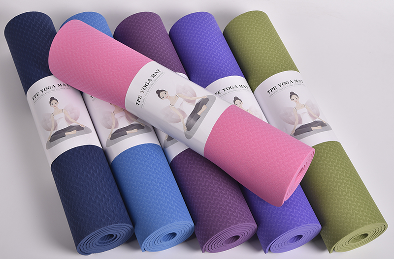 Custom TPE Yoga Mat, Different Colors And Sizes for Choose