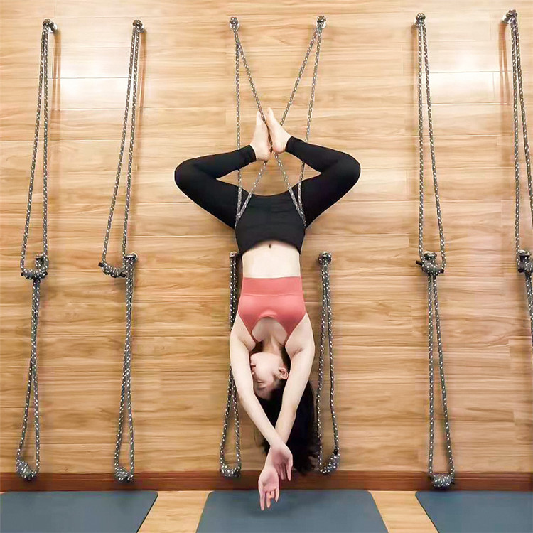 Wholesale Iyengar Yoga Wall Hang Rope Mount Kit Antigravity Inversion Accessorial Tool Wall Ropes Yoga