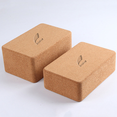 Wholesale Customized Logo Eco-friendly Fitness Odor Free Non-Slip Natural Cork Yoga Block