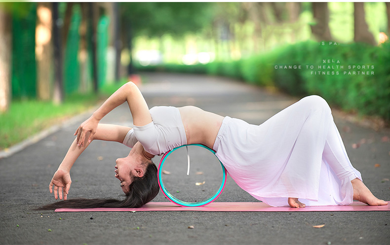 Wholesale Custom Printed New TPE Yoga Wheel ABS Eco-Friendly China Factory Streching Fitness Gym Wheel (13)